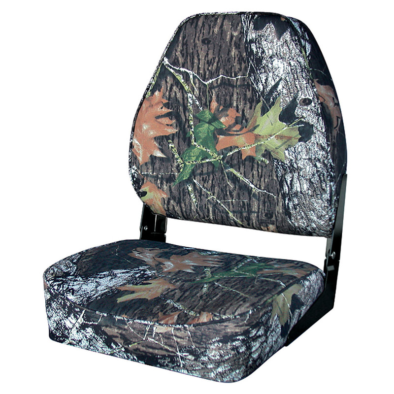 Wise Outdoors High Back Camouflage Duck Boat Seats in Mossy Oak New Breakup Color