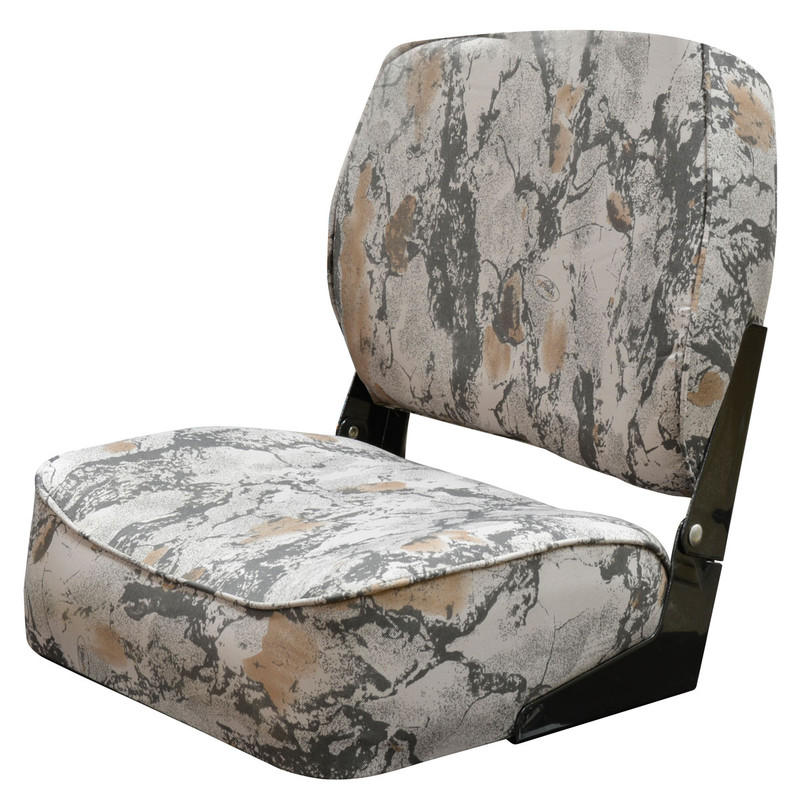 Wise Outdoors Standard Back Camouflage Duck Boat Seats in Natural Gear Color