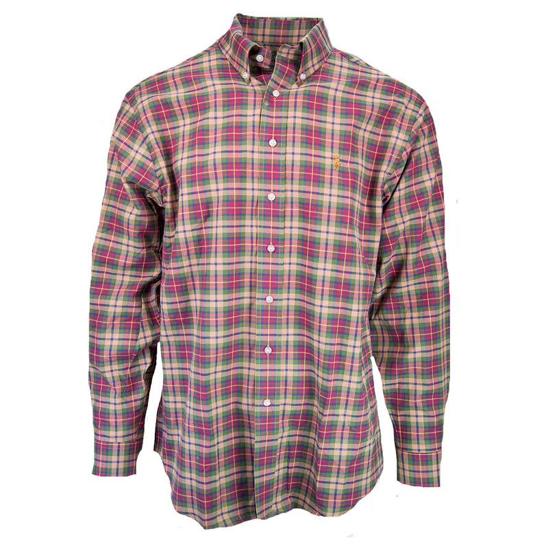 Southern Casanova Long Sleeve Button Down in Rust Plaid