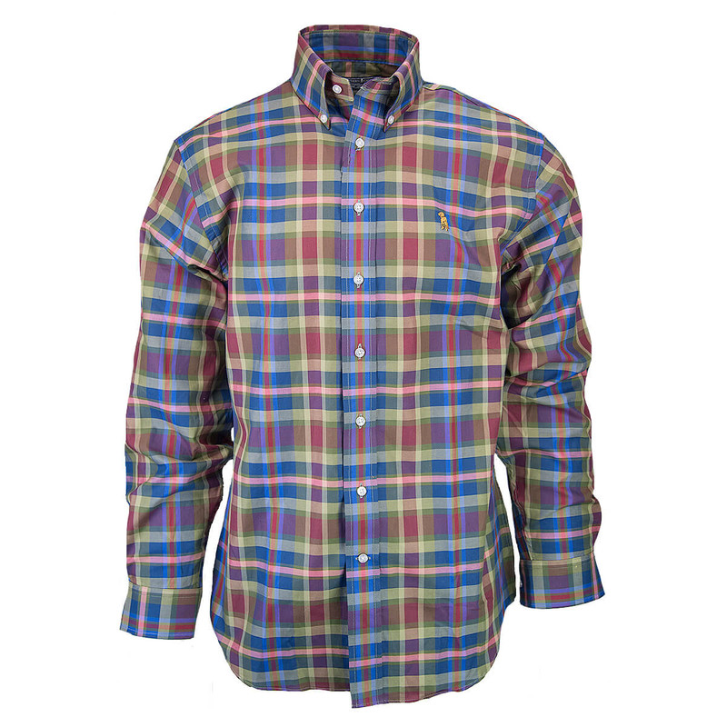 Southern Casanova Long Sleeve Button Down in Timber Plaid Color