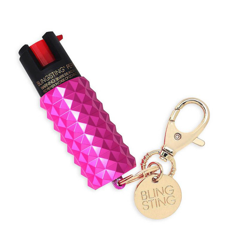Blingsting Metallic Studded Pepper Spray in Pink Color