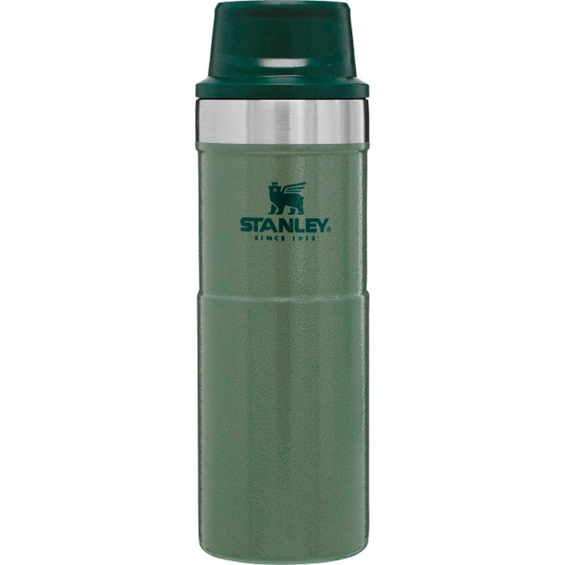 Stanley Classic Trigger-Action Travel Mug - 16 Ounce in Green Color