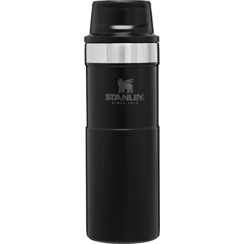 Stanley Classic Trigger-Action Travel Mug - 16 Ounce in Matte Black Color
