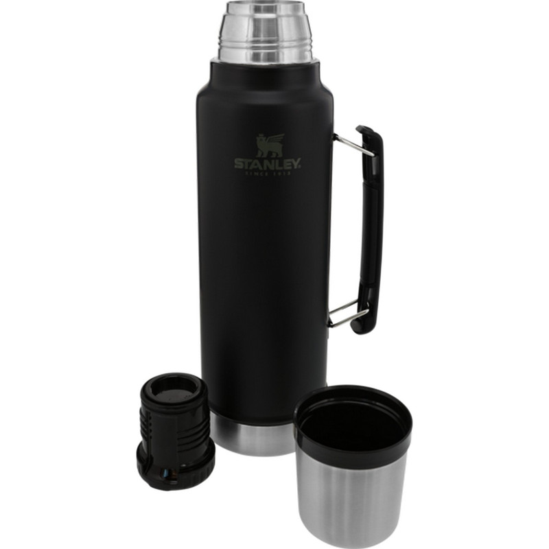 Stanley Classic Legendary Vacuum Thermos Bottle - 1.5 Quart in Matte Black Color