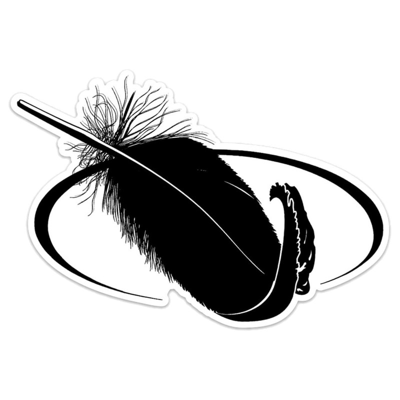 MPW Orbit Feather Decal in Black Color