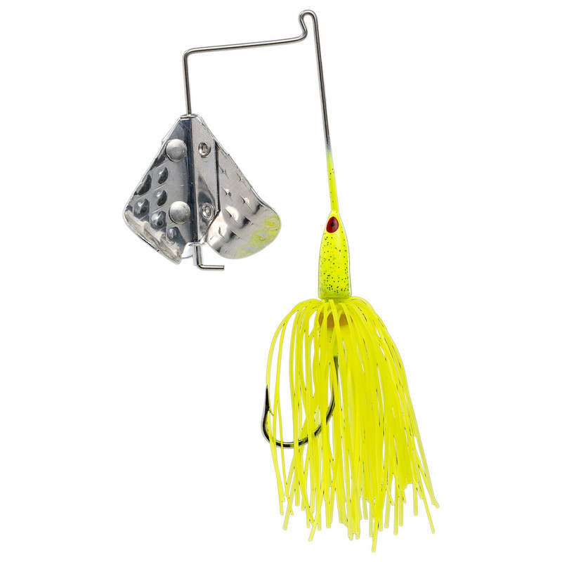 Strike King 1/8 oz Tri-Wing Buzz King in Chartreuse Color