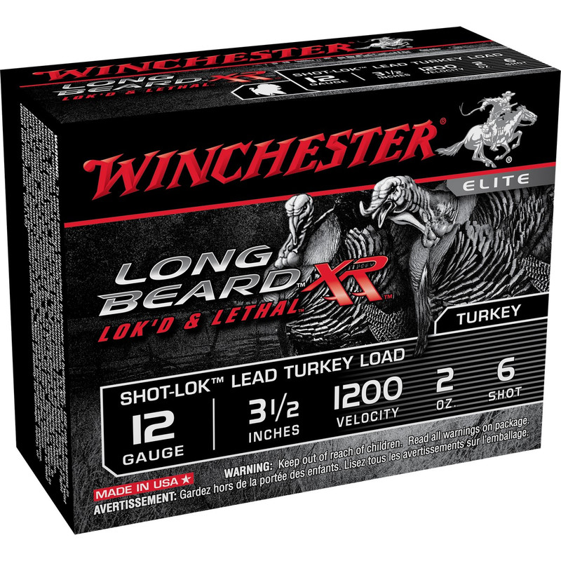 "Winchester STLB12L Long Beard XR 12 Ga 3 1/2"" 2 Oz - Box in Shot Size 6 Ammo Size"