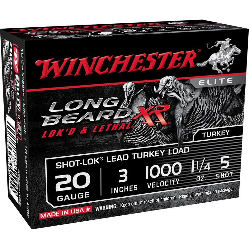 "Winchester STLB203 Long Beard 20 Ga 3"" 1-1/4 OZ - Box in Shot Size 5 Ammo Size"