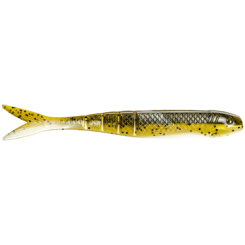 "Strike King KVD 4.5"" Blade Minnow in Green Pumpkin Pearl Belly Color"