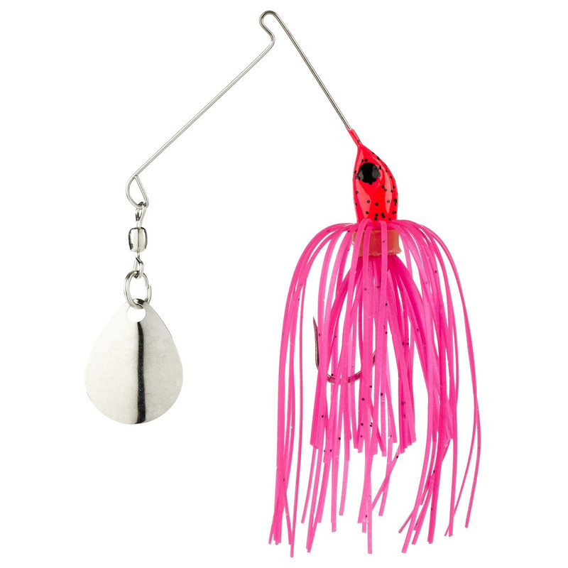 Strike King 1/16 oz Micro-King Spinner Bait in Pink Head Pink Skirt Color