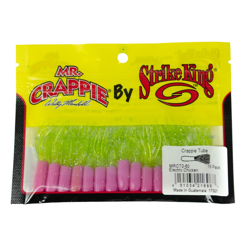 Strike King Mr. Crappie Tube in Electric Chicken Color