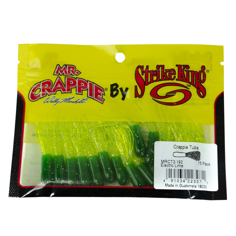 Strike King Mr. Crappie Tube in Electric Lime Color