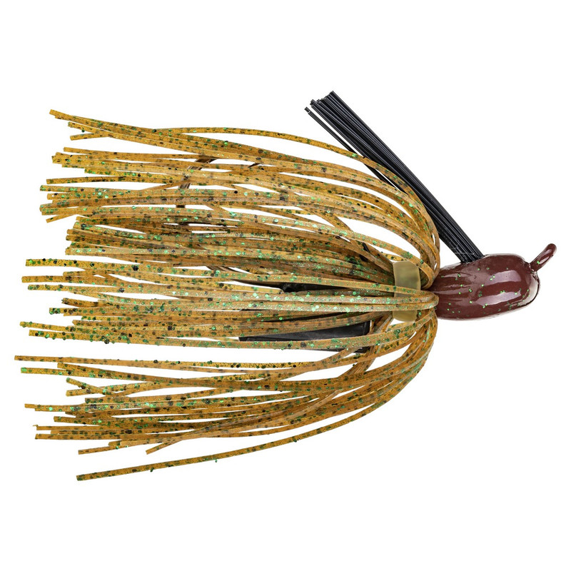Strike King 3/8 oz Denny Brauer Premier Pro Model Jig in Green Pumpkin Color