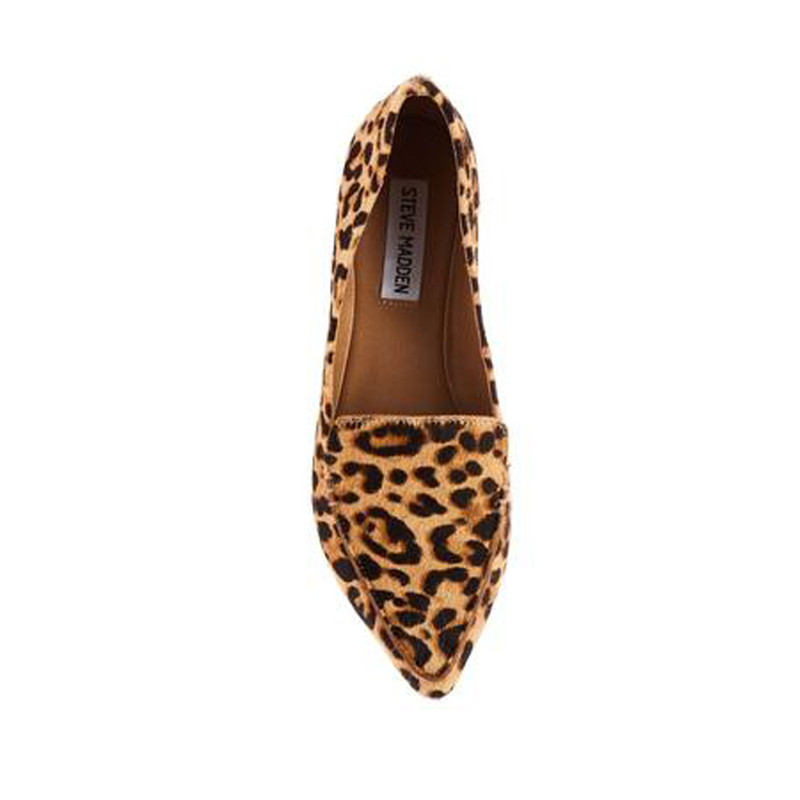 Steve Madden Pointed Toe Flat Wide in Leopard Color