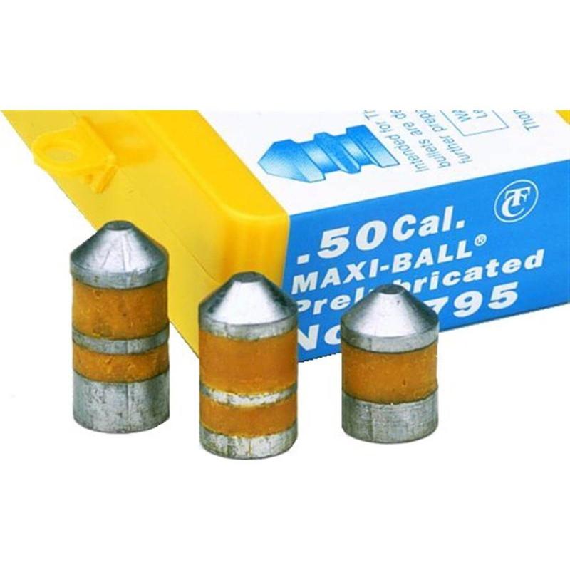 Thompson Center 7795  50 Cal Maxi Balls Black Powder Ammo