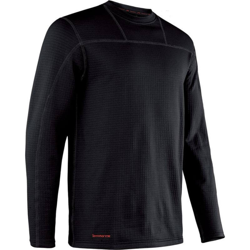 Terramar Mens Crew Long Sleeve in Black Color