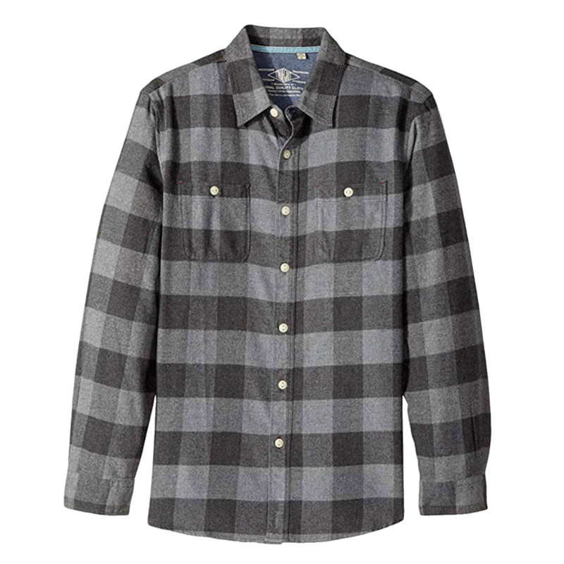 True Grit Highway 1 Roadtrip Redford Checks LS Shirt in Charcoal Color