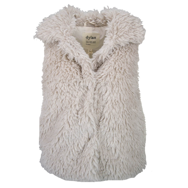 Dylan Fuffy Sherpa Vest in Offwhite
