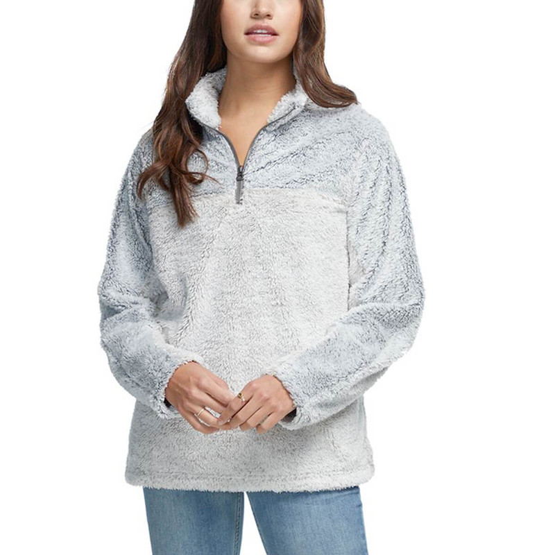 Dylan Shag Sherpa Pullover in Chambray Color
