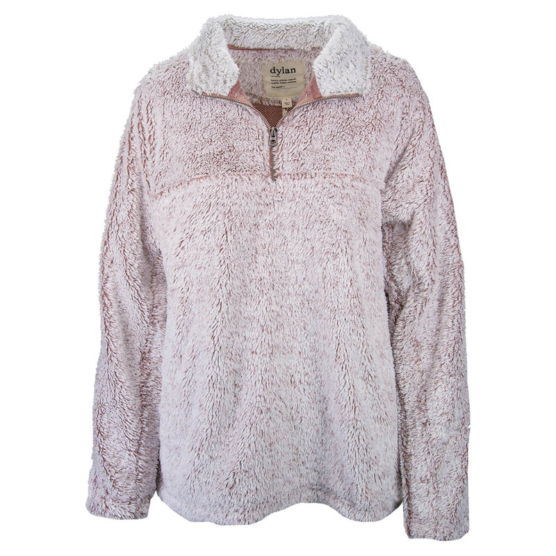 Dylan Shag Sherpa Pullover in Pink Color
