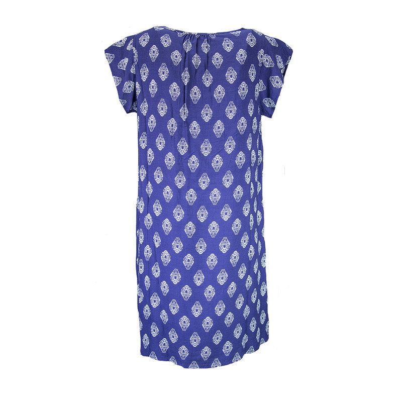 THML Embroidered Shift Dress in Navy Color