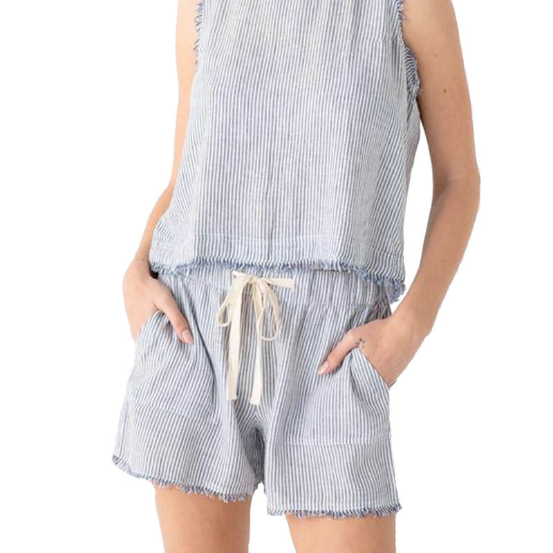 Thread & Supply Haven Shorts in Blue White Color