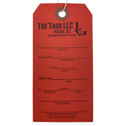 Toe Tags Gift Tags