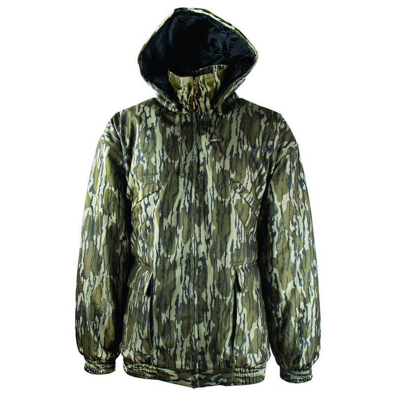 MPW Insulated Waterproof Youth Wader Jacket in Mossy Oak Bottomland Color