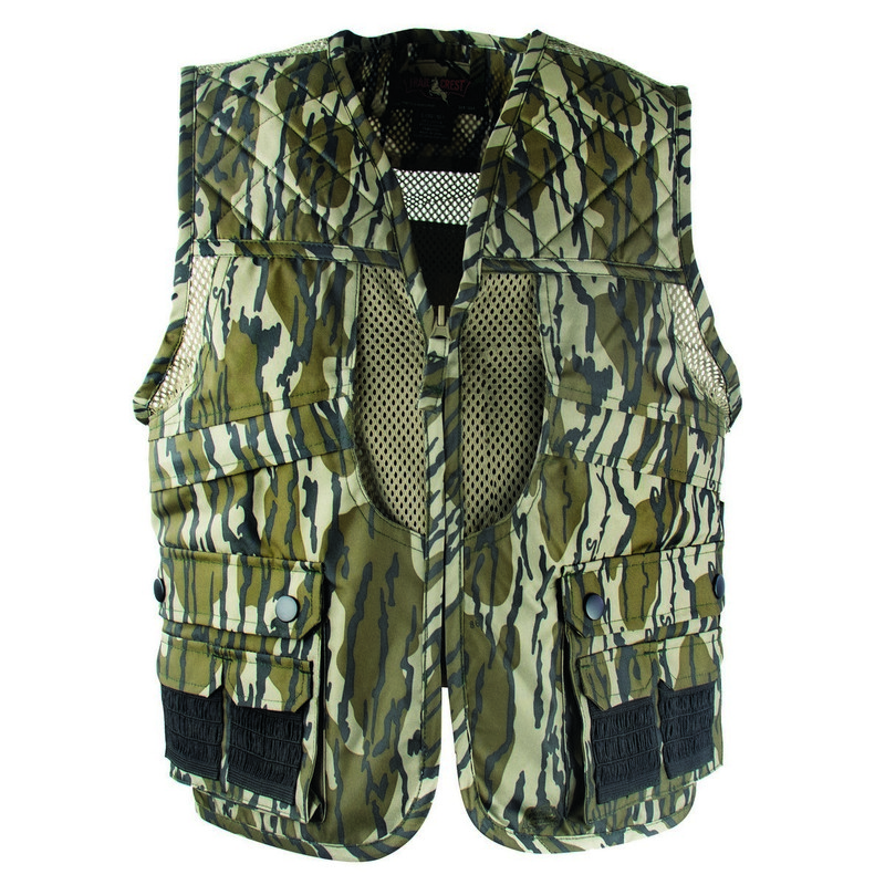 MPW Deluxe Youth Front Loader Game Vest in Mossy Oak Bottomland Color