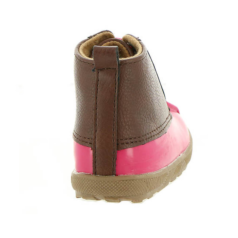Baby Deer PU Duck Boot - Youth in Fuchsia Brown Color