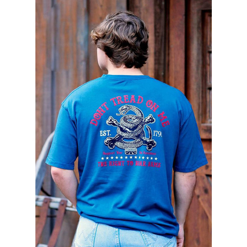 Turnrows Don't Tread On Me Short Sleeve T-Shirt in Navy Color