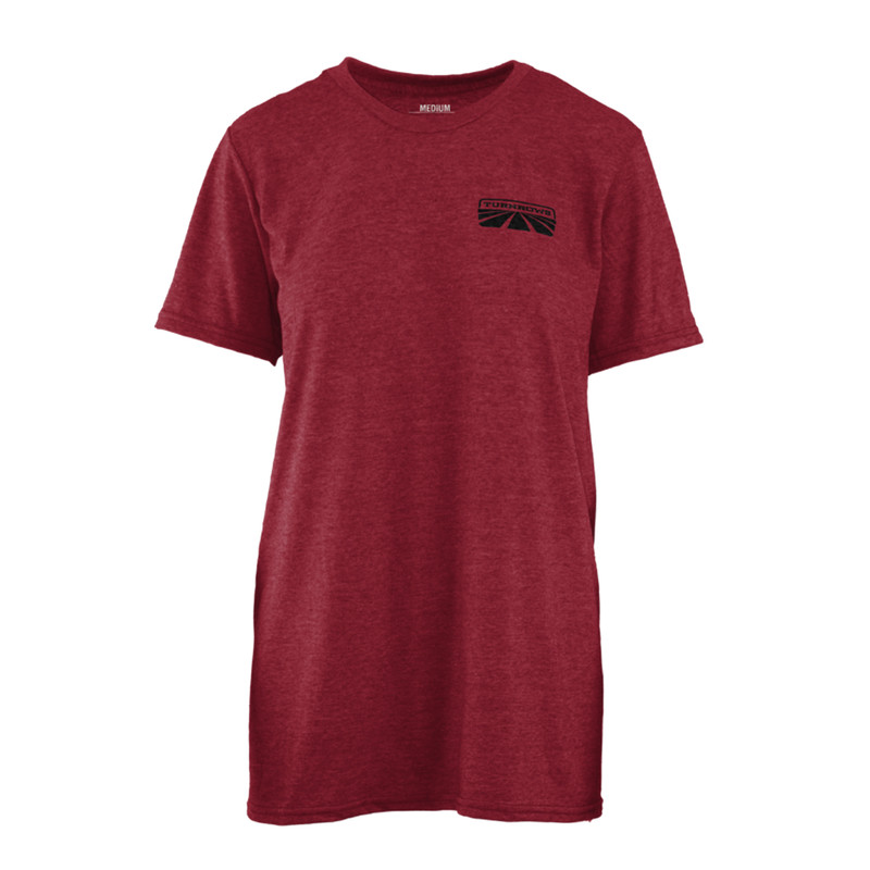Turnrows God Made A Farmer Short Sleeve T-Shirt in Independence Red Color