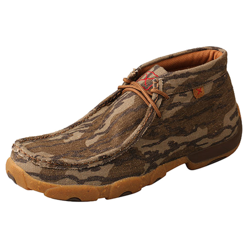 Mens' Twisted X Mossy Oak Casual Chukka Driving Moc in Mossy Oak Color