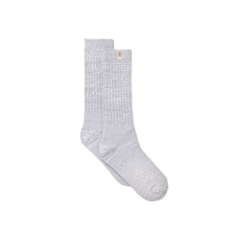 Ugg Rib-Knit Slouchy Crew Sock Sock Size 9-11 in Seal Color