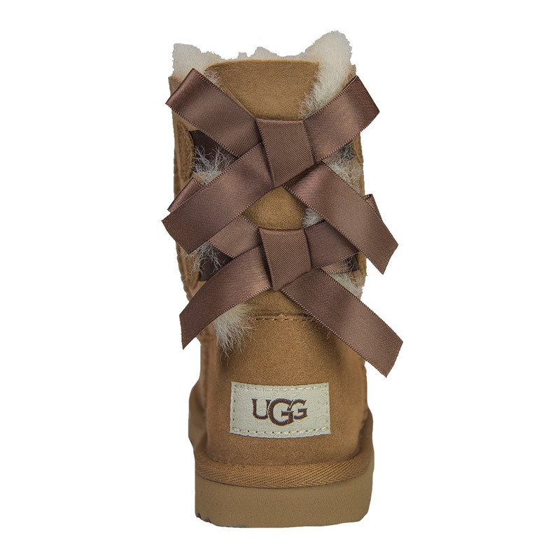 Ugg Youth Bailey Bow Boot in Chestnut Color