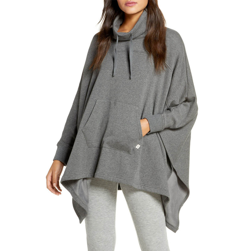 Ugg Charlynne Poncho Pullover in Charcoal Heather Color