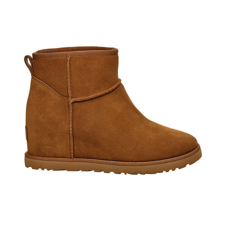 Ugg Classic Femme Mini Wedge Boot in Chestnut Color