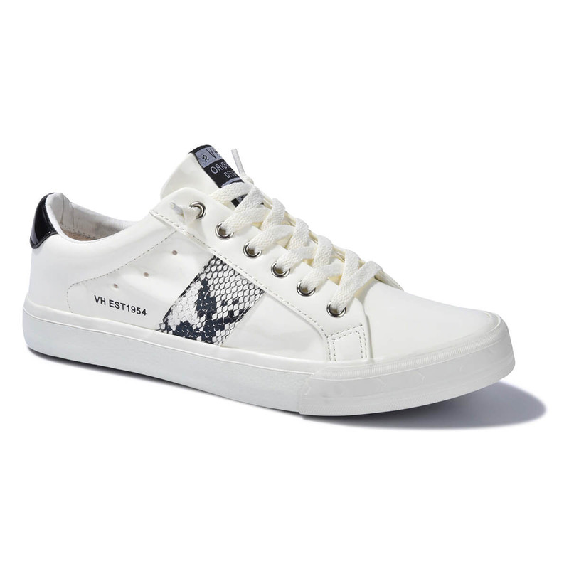 Vintage Havana Quincy Signature White Sneaker in White Color