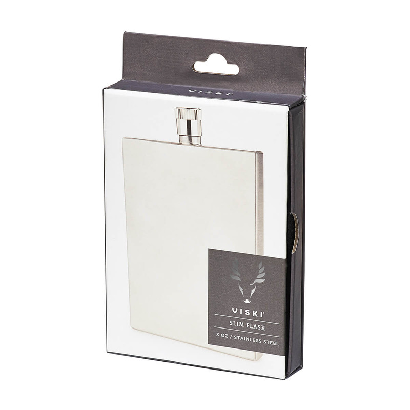 Viski Harrison Stainless Steel Slim Flask