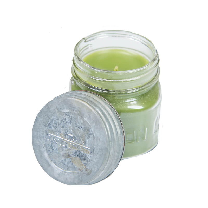 Wax Mason Jar Candle 8oz in Oakmoss