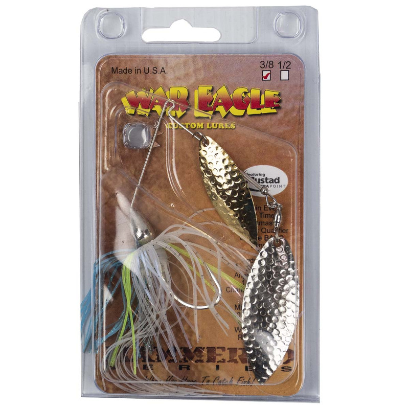 War Eagle Double Willow Spinnerbait - 3/8 oz in Sexy Shad