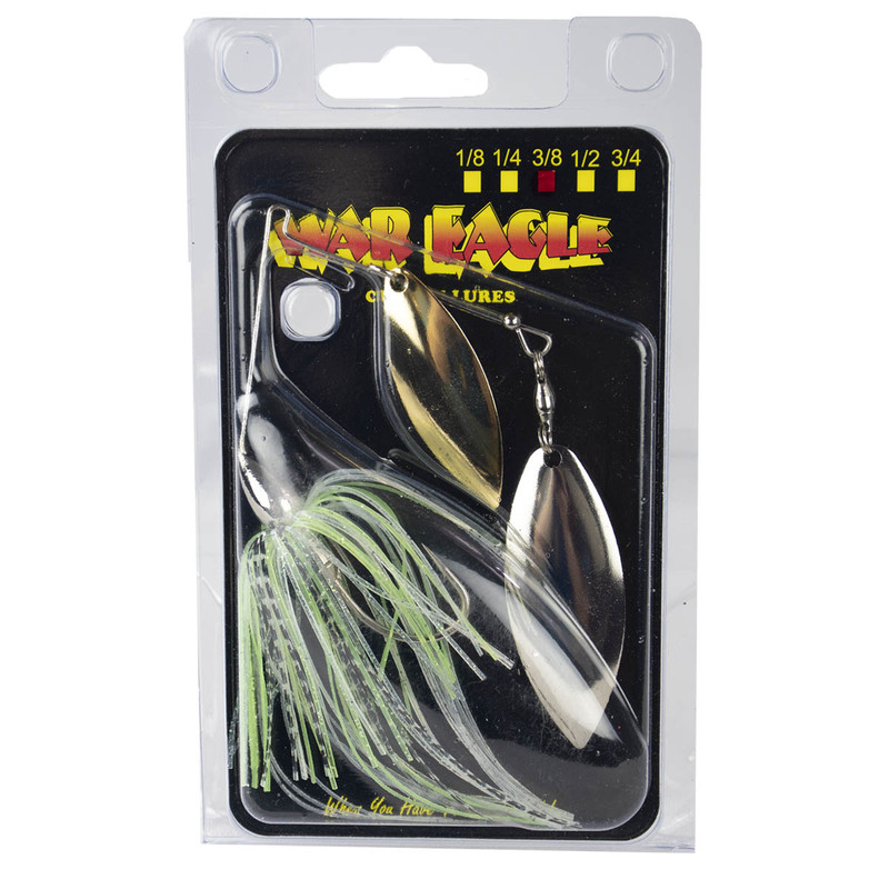 War Eagle Double Willow Spinnerbait - 3/8 oz in Spot Remover