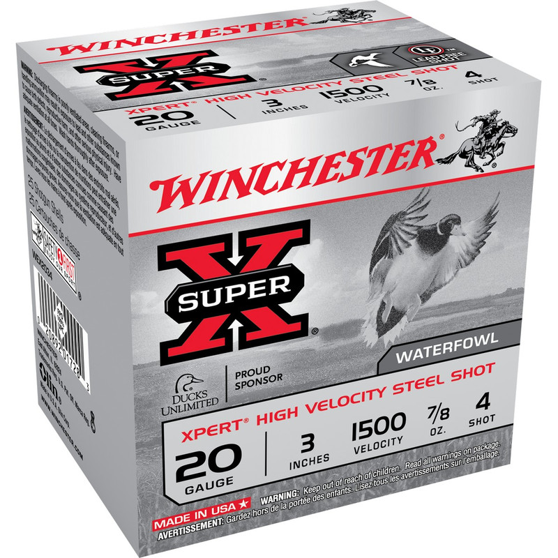 "Winchester WEX203 Xpert HV 20 Ga 3"" 7/8 Oz - Case in Shot Size 4 Ammo Size"