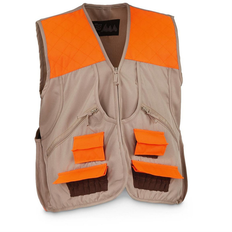 World Famous Sports Deluxe Upland Game Vest in Orange Tan