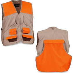 World Famous Sports Upland Game Vest - Tan & Blaze