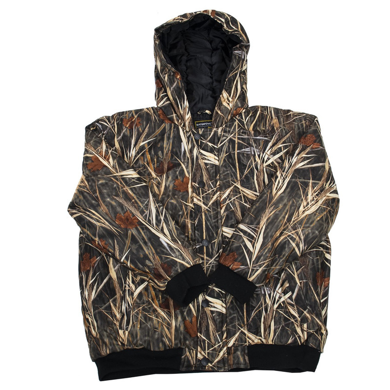 WFS Youth Warp Knit Insulated Hooded Jacket in Waterfowl Color