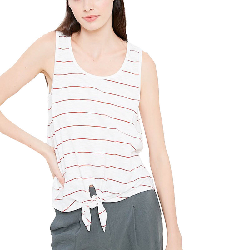 Not So Serious Stripe Tank in Red Color