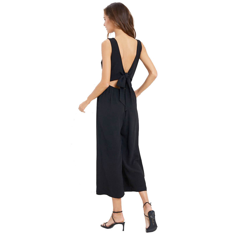 Wishlist Take Me Out Jumpsuit in Black Color