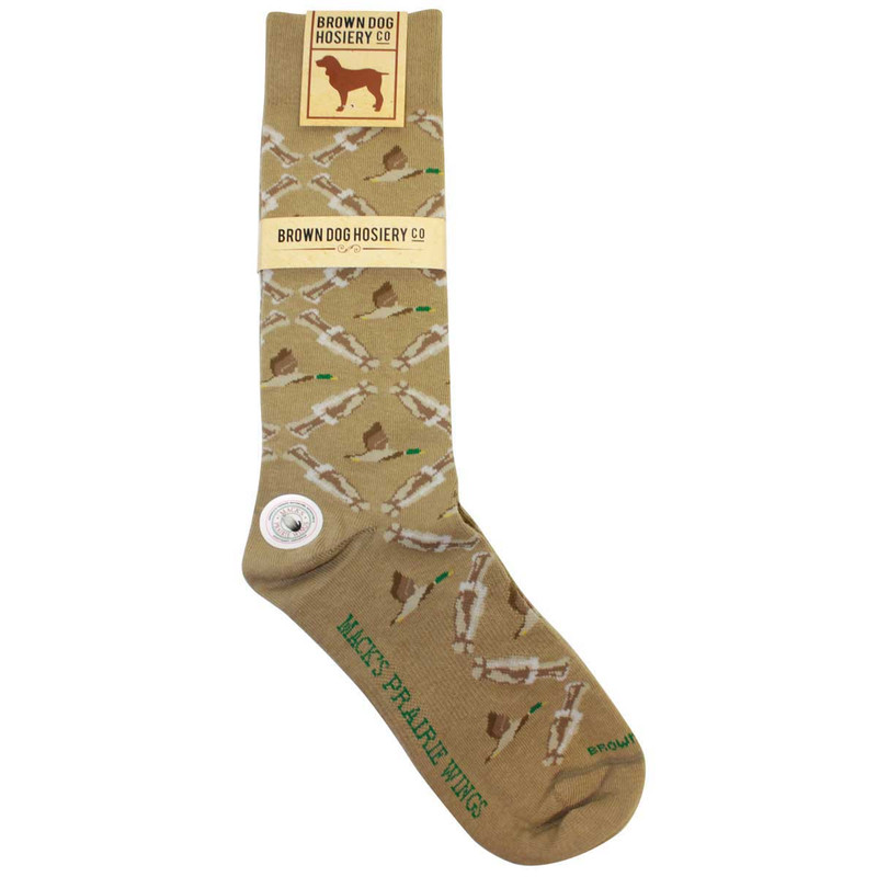 MPW Duck Call Argyle Dress Socks By Brown in Khaki Color