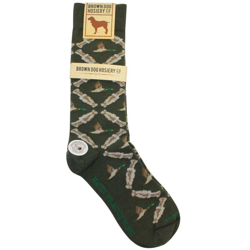 MPW Duck Call Argyle Dress Socks By Brown in Sage Color